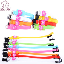 "Cute Heart word ""hello kitty"" LED Luminous Pet Dog cat Collar with Flash glow Led light Dog cat Collars for cat small dog(China)"