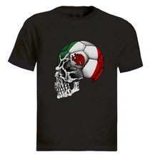 2017 Brand T Shirt Men Fashion Mexico Flag Skull Footballer National Team Funny Tops Tee Casual O Neck