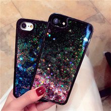 Buy 6S Glitter Bling Liquid Quicksand Phone Case iPhone 6 6S 7 Plus Soft Silicone Edge Hard Plastic Transparent Back Cover Shell for $2.25 in AliExpress store