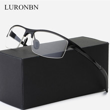 2018 New Ultra-light Aluminum-magnesium Frames Fashion Retro Glasses Frame Men Women Computer Optical Eye Glasses Women's Frame(China)
