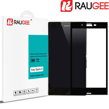 Newest RAUGEE Full Cover Tempered Glass for Sony Xperia X 2.5D 9H Anti-Explosion Phone Screen Protector Film for Sony Xperia XP