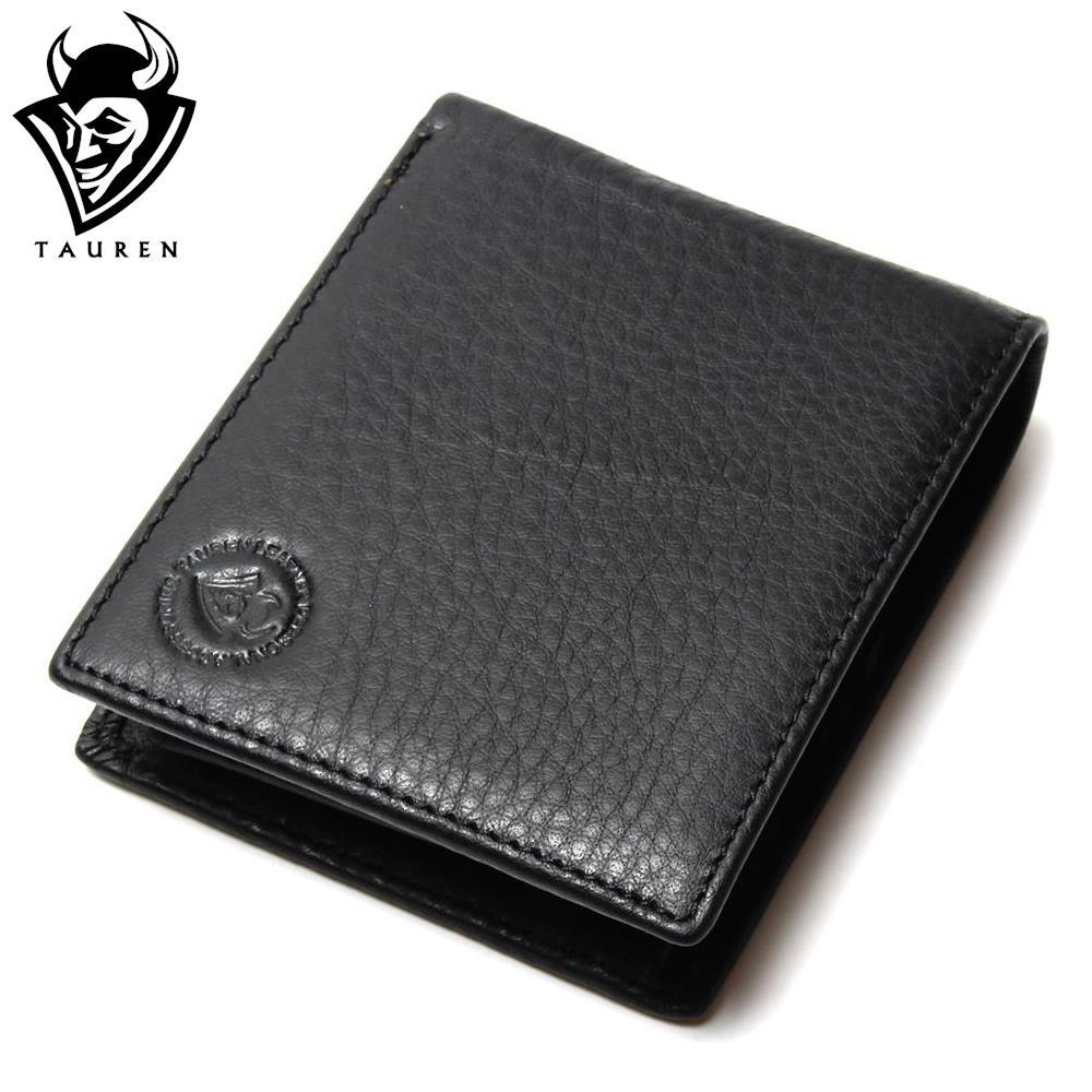 Men Wallet Promotion Excellent Genuine Cow Leather Black For Office Man Mens Vintage Wallets<br><br>Aliexpress