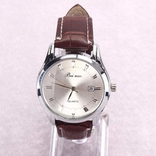 Men's Luxury Sport Analog Quartz Stainless Leather Watches Wrist Watch Gift D