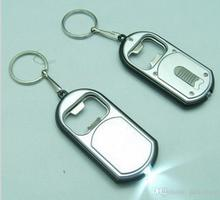 Unique Favors Wedding Gift LED Keychain with Bottle Opener Key Chain Ring Can be Print LOGO Free Shipping(China)