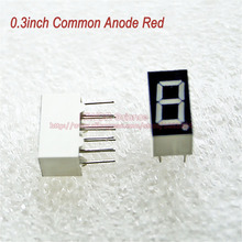 (10pcs/lot) 10 Pins 3011BR 0.3 Inch 1 Bit Digit 7 Segment Red LED Display Share Common Anode Digital Display(China)