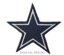 "2.8"" Cool Cowboys Cow boy Star Logo Embroidered IRON ON/ SEW ON Cool Football Vest Patch Military Badge Wholesale Free shipping"