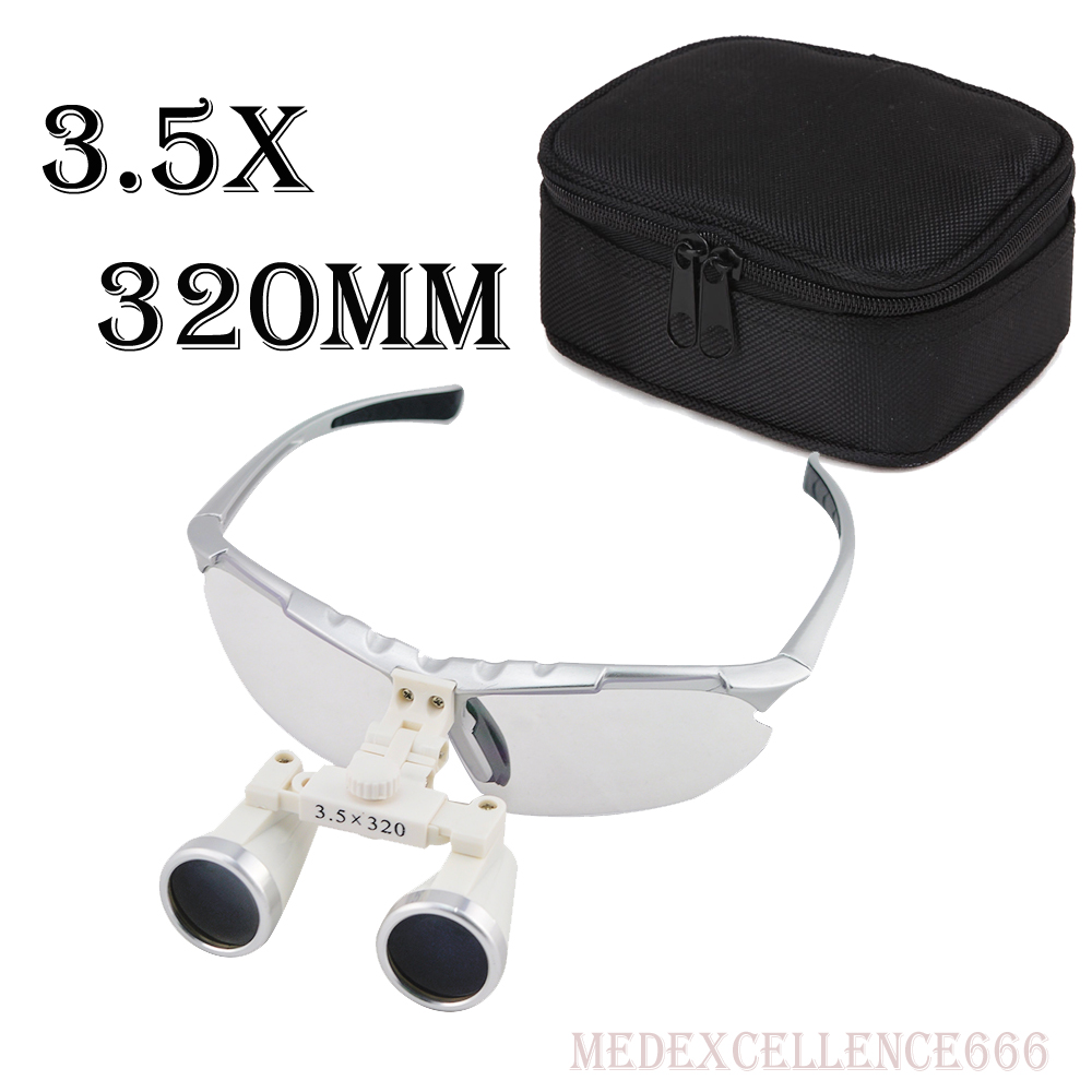 High Quality Ultra-Light 3.5X320mm Medical magnifying glass Surgical loupes Dental Loupes medical loupes+Protective Bag<br>