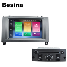 Besina 2 DIN 7inch Android 6.0 CAR DVD player FOR PEUGEOT 407 GPS bluetooth wifi can bus steering wheel control USB Radio Tuner(China)