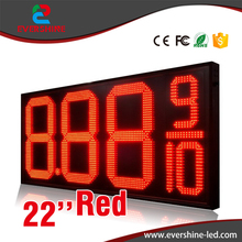 High Brightness 8.889/10 22 Inch LED Digital Number LED Gas Price panel and Oil Petrol Station Price LED Display Sign Screen