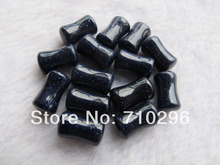 New arrived 6.5x10mm Blue sand stone plugs body jewelry ear flesh tunnel plug natural stone plugs