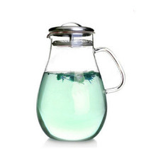 2000ml High temperature glass kettle can be straight burn cold kettle cold kettle teapot fruit juice pot large capacity(China)