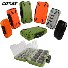 Goture Double Layer Hard Plastic Fishing Box For Baits or Sinkers Lure Fishing Tackle Box Fly / Bass / Carp Fishing Accessories(China)