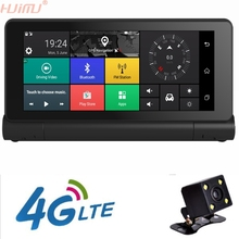 4G Car DVR Rearview Mirror 7inch GPS Navigatior Remote Monitor Smart Android 5.1 Bluetooth Dual Lens 1080P WIFI Dashcam