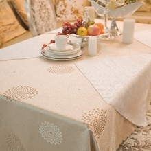Heavy Coffee Stars Round Rectangle Square Table Cloth Hotel Banquet Tablecloths, tablecloths Pastoral Geometric For Sale