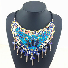 Blue Heart Of Ocean Fashion Necklace 2015 New Design Women Jewelry Statement Necklace Factory Price Stars Necklaces & Pendants