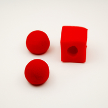 5set/lot Red Ball To Square Sponges Magic Tricks Set Funny gadgets street stage close up magic tricks magician 81032