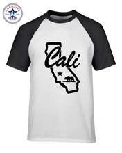 Hot sale Mix Color Clothes Casual California Republic Cali Cotton funny t shirt for men short sleeve