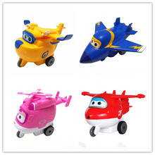 Best selling 11CM Super Wings Mini Planes Toy Transformation Robots JETT Action Figure for Boys Birthday Gift Brinquedos(China)