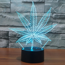 Novelty 7 colors changing Lighting Touch Switch Maple Leaf 3D LED Lampe Desk Lava Lamp Bedroom Home Decor Gift USB LED lava lamp