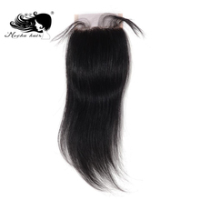 "Mocha Hair Brazilian Remy Straight Hair Lace Closure 4""X 4"" Free Part 8inch-18inch(China)"