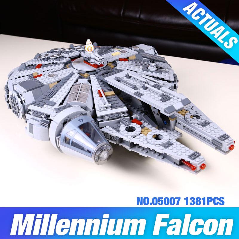 LEPIN 05007 1381pcs Star Wars Millennium Falcon Fi...