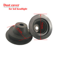 High quality 2Pcs Dust Cover For Car Motorcycle LED HEADLIGHT/ KIT H1 H3 H4 H7 H8 H9 H11 H13 9004 9005 9006 9007