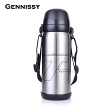 GENNISSY High-grade Creative Tourism Cap Stainless Steel Vacuum Insulation Pot Kettle Large Capacity Outdoor Travel Thermos Cups(China)
