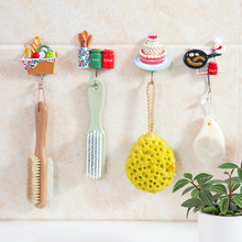 4PCS/LOT Hamburg Cake Simulation Food Decorative Hook Creative Resin Model Bathroom Wall Hook Coat Hook Wall Hanging Hook