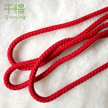 Red Rope 5-6mm Round Polyester Cord Wrap Rope Textile Accessories Q266