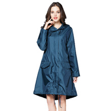 6 Colors Waterproof Women Raincoat Hooded Long Rain Jacket Breathable Rain Coat Poncho Outdoor Rainwear(China)