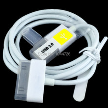 200pcs/lot 1m 3FT white 30pin usb data charger cable accessory bundles for iPhone 4 4S 4G iPod nano touch Adapter free shipping