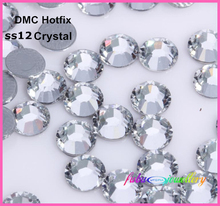 1440pcs/Lot, Iron On Rhinestones ss12 (3.0-3.2mm) High Quality DMC Crystal Clear Hotfix Crystals