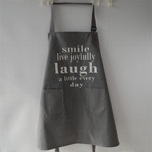 Custom made HOME series thick canvas aprons letters printed Nordic style paragraph 70cm * 80cm(China)