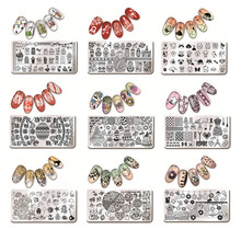 1 Pc Nail Art Stamping Template Animal Girl Sea Shell Starfish Design Rectangle Manicure Nail Art Image Plate Harunouta L012-031
