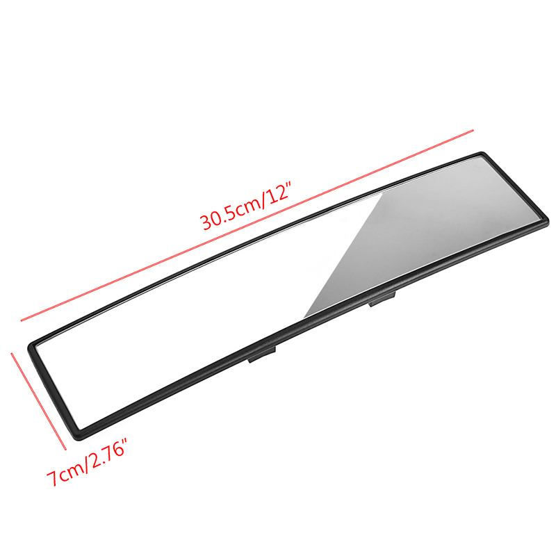 300mm Panoramic Curve Convex Interior Clip On Rear View Mirror Universal