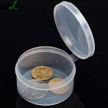 Mini Portable Transparent Jewelry Storage Box Case Home Storage Tool Can Be Coin Pill Plastic Storage Box Case Organizer MS516(China)