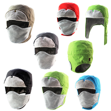Guaranteed 100% Men/Women Winter Trapper Trooper Hat Mask Cap for Outdoor Snow Ski Cycling Bicycle Free Shipping Wholesale(China)
