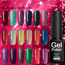 Zation Product Nails Primer Neon UV Gel Nail Polish Soak Off UV Colorful Glue Nail Art Gel Polish Long-lasting Gel Varnish(China)