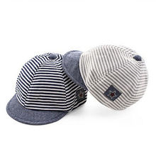 2017 Summer Cotton Baby Hats Cute Casual Striped Soft Eaves Baseball Cap Baby Boy Beret Baby Girls Sun Hat flat caps drop ship(China)