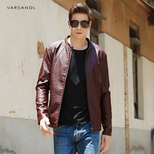 Buy Varsanol PU Leather Jackets Mens Clothes Solid Bomber Jacket Male Business Casual Coats Brand Clothing Zipper Pocket Newest for $35.87 in AliExpress store