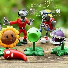 Global free postage Super cheap Plants vs zombies toy doll model Peashooter Sunflower(China)