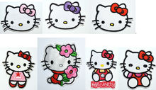 FREE SHIPPING - Fabric Hello Kitty Embroidery Patches Sew or Iron On Clothes Tee Shirt Hat Jean shoes Pet Clothing