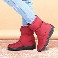 Buy Fashion Winter Women Boots Female Waterproof Zip Ankle Boots Warm Snow Boots Ladies Shoes Woman Botas Mujer Plus Size 35-42 for $22.35 in AliExpress store