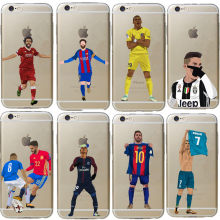 Неймар Криштиану Роналду Griezmann Mbappe футбол трикотаж для iPhone 6 6S 7 8 5S 5 SE X XR XS Max жесткий чехол(China)