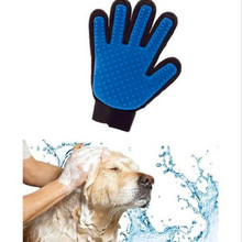 True Product Silicone Touch Deshedding Glove Gentle Efficient Pet Grooming Dogs Bath Pet Supplies Blue Pet Shop Dog Acessorios