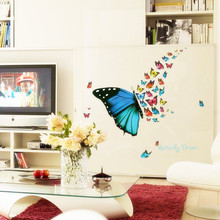 butterfly dream quote stickers colorful butterfly flying 3D wall stickers for living room bedroom nursery PVC vinyl home decor &(China)