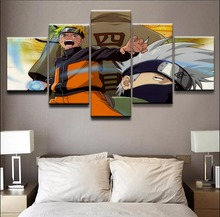 Modern Painting HD Printed Canvas Home Modular Decoration 5 Panel Animation Naruto Posters Framed Living Room Wall Art Pictures