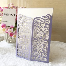 25pcs Music Design Wedding Invitations Card Romantic Cards Envelope Delicate Carved Pattern Party Decoration Pearl Paper
