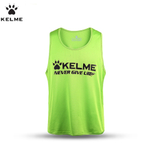 KELME Men Football Training Vest Soccer Jerseys Football Vest Soccer Training Vest Sports Thirt for Summer