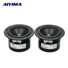AIYIMA 2pcs HIFI Speaker Full Range Bass Subwoofer Tweeter New 3 Inch 15 W DIY Home Theater Loudspeaker system Audio Speakers